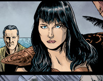 AoD/Xena Color samples over Deigo Galindo's art!