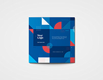 Square Colorful Geometric Trifold