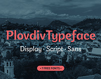 Plovdiv Typeface / Free Font Family