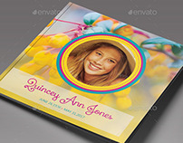 Precious Memories Funeral Program Template