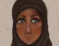 Study of a Muslim lady