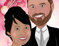 Caricature for Wedding Gift