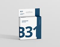 Box Mockup - Slim Square Size with Hanger