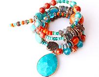 Bohemian Turquoise Wrap Bracelet