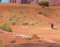 2D Painting: Desert landscape