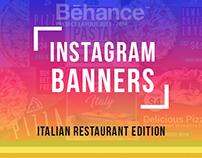 Instagram Banner - Italian Restaurant Edition