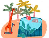 Иллюстрации в детские комнаты спортивного клуба