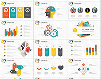 Best multicolor Creative annual report PowerPoint templ