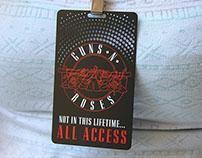 Black Metal VIP Passes for Guns N Roses