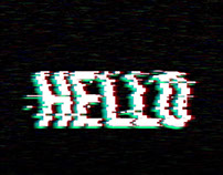 HELLO - animated glitch