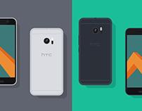 Freebie // Mockup: Flat HTC10