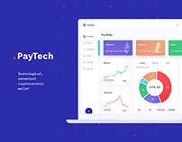 UI/UX design сryptocurrency wallet | Landing page
