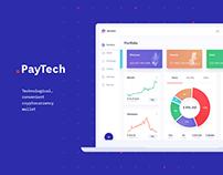 UI/UX design сryptocurrency wallet | Landing page