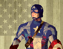 Captain America Low Poly