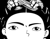 Ilustracion Frida Khalo