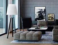 VIZprofistudio Gray Home Visualization, 3D, CGI