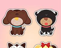Cute Puppy Kid Stickers