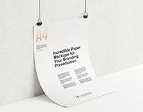 Paper/Poster Branding Mockup Bundle