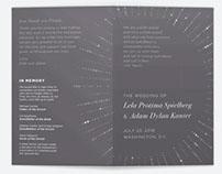 Adam and Lela's Wedding Program