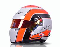 Indy Lights Driver Ed Jones x2 2016 helmets