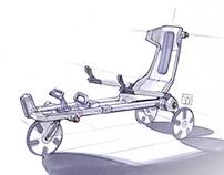 foldable human powered 3-wheeler