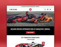 Email Marketing Development - Simraceway