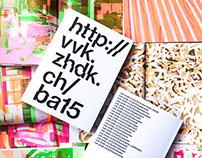 BA Design Publication ZHdK Visual Communication
