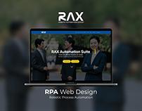 RAX Automation Suite Web Design