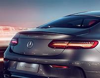 Mercedes-Benz E-Class Coupé CGI+Retouching