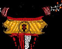 Tribal Bison Skull
