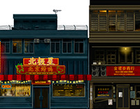 Crimson 451 - Downtown Area Stage - Background Assets