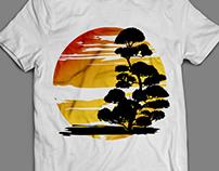 T-shirt Design - Bonsai - Peace