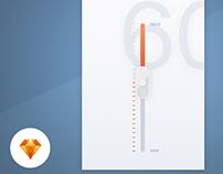 Volume Control - Day88 UI/UX Free SketchApp Challenge