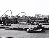 coney island in b/w