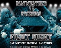 Mayweather vs Pacquiao Boxing Poster