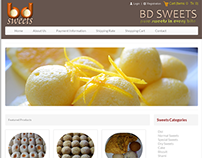 Ecommerce site Design: BdSweets