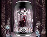 Hazelnut Bruin Beer Label