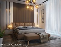Master Bedroom with Dressing Design for a Private Villa