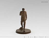 William Kaan Statue 3D Modelling for ManMade Game Prj