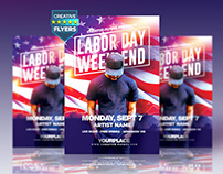 "Labor Day Party Flyer ""PSD"""