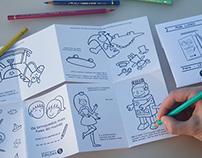 "Mini coloring book ""Os brinquedos mais fixes do mundo"""