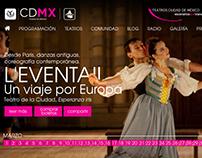 Página web del Sistema de Teatros Ciudad de México.