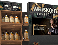 Whisk(e)y and Mixables Holiday Display Concepts