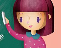 Illustration for School Book