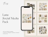 Lana Social Media Pack PSD Instagram Templates Download
