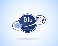 Blu Fly Airlines Brand Identity