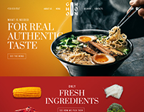 Asian food webdesign concept