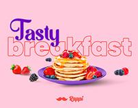 Tasty breakfast by Rappi