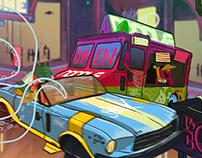 Cyberpunk City Anim