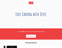 Live Coding With Jesse | Landing Page